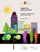 Insights from ICAA Forum 2017: Optimize environments for health and wellnes