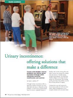 Urinary incontinence: offering solutions that make a difference by Susan L. Jackson, PT-1151