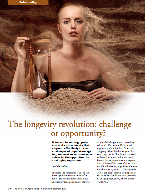 The longevity revolution: challenge or opportunity? by Colin Milner-1199