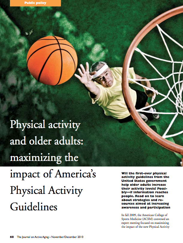 Physical activity and older adults: maximizing the impact of America's Physical Activity Guidelines-1203
