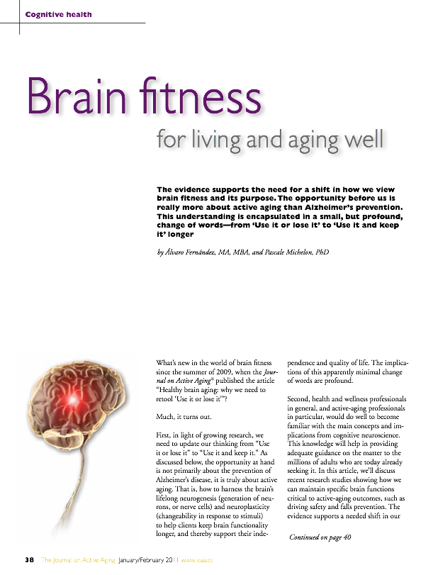 Brain fitness for living and aging well by Alvaro Fernandez, MA, MBA, and Pascale Michelon, PhD-1232
