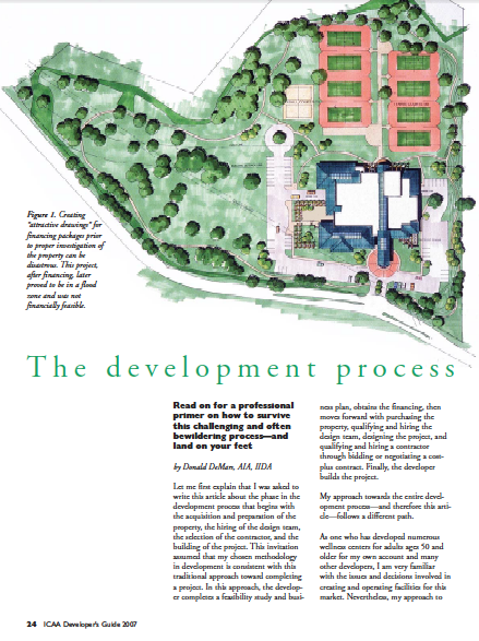 The development process by Donald DeMars, AIA, IIDA-1243