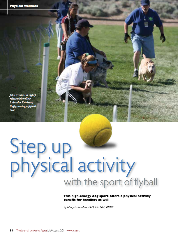 Step up physical activity with the sport of flyball by Mary E. Sanders, PhD, FACSM, RCEP-1328
