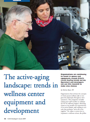 The active-aging landscape: trends in wellness center equipment and development by Patricia Ryan, MS-1345