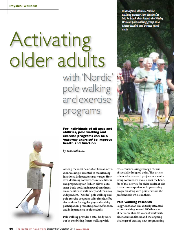 Activating older adults with 'Nordic' pole walking and exercise programs by Tom Rutlin, BS-1353