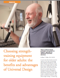 Choosing strength-training equipment for older adults: the benefits and advantages of Universal Design by Wayne T. Phillips, PhD, FACSM-1356