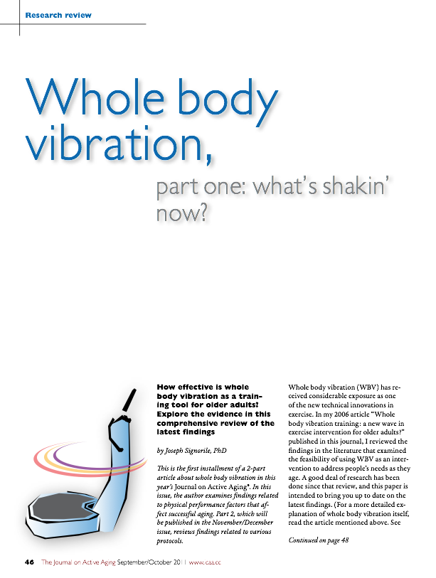 Whole body vibration, part one: what's shakin' now? by Joseph Signorile, PhD-1360
