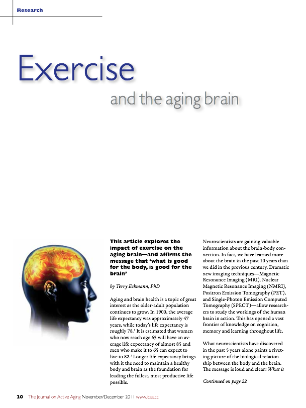 Exercise and the aging brain by Terry Eckmann, PhD-1375