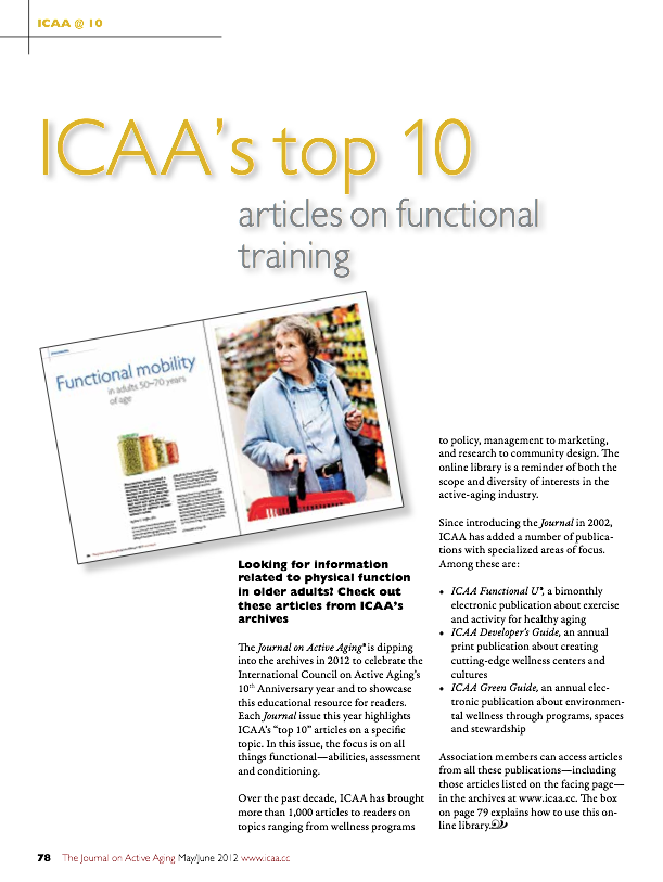 ICAA's top 10 articles on functional training-1499
