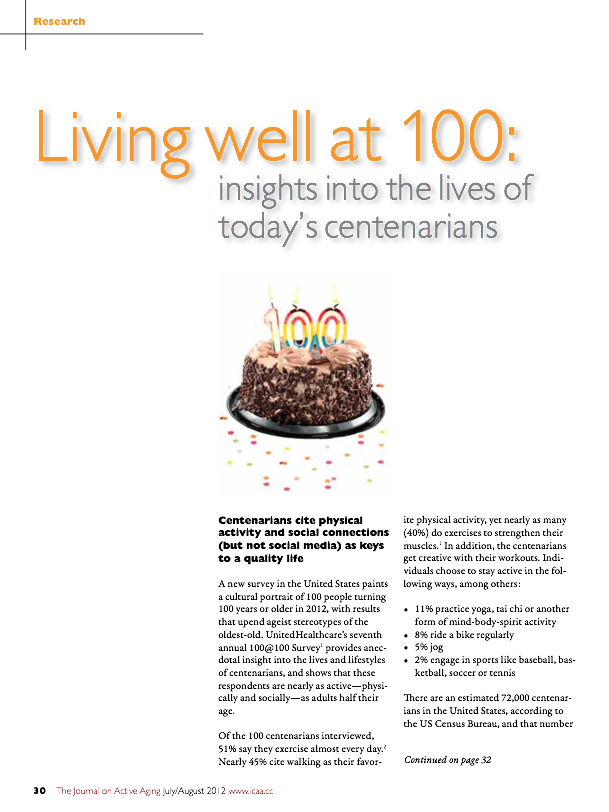 Living well at 100: insights into the lives of today's centenarians-1510