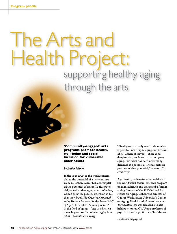 The Arts and Health Project: supporting healthy aging through the arts by Jenifer Milner-1534