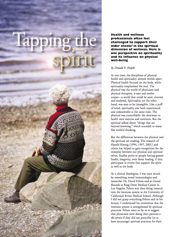 Tapping the spirit by Donald R. Koepke-158