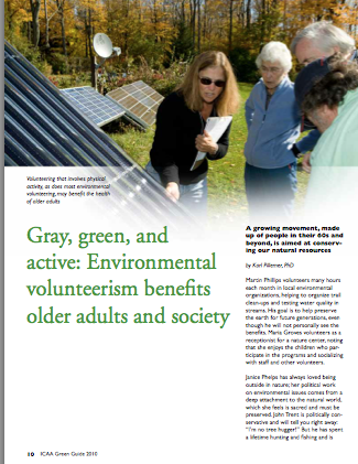 Gray, green, and active: Environmental volunteerism benefits older adults and society by Karl Pillemer, Ph.D.-1820