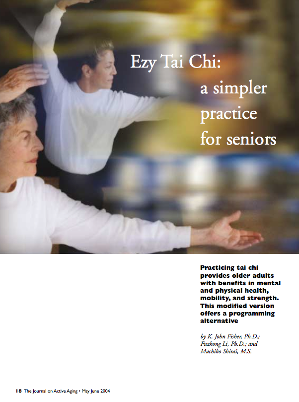 Ezy Tai Chi: a simpler practice for seniors by K. John Fisher, Fuzhong Li and Machiko Shirai-218