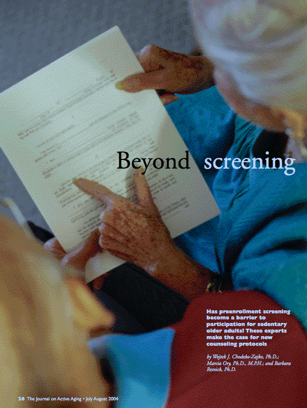 Beyond screening by Wojtek J. Chodzko-Zajko, Marcia Ory and Barbara Resnick-228