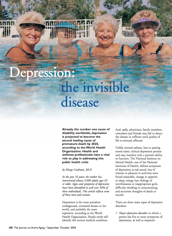 Depression: the invisible disease by Marge Coalman-237