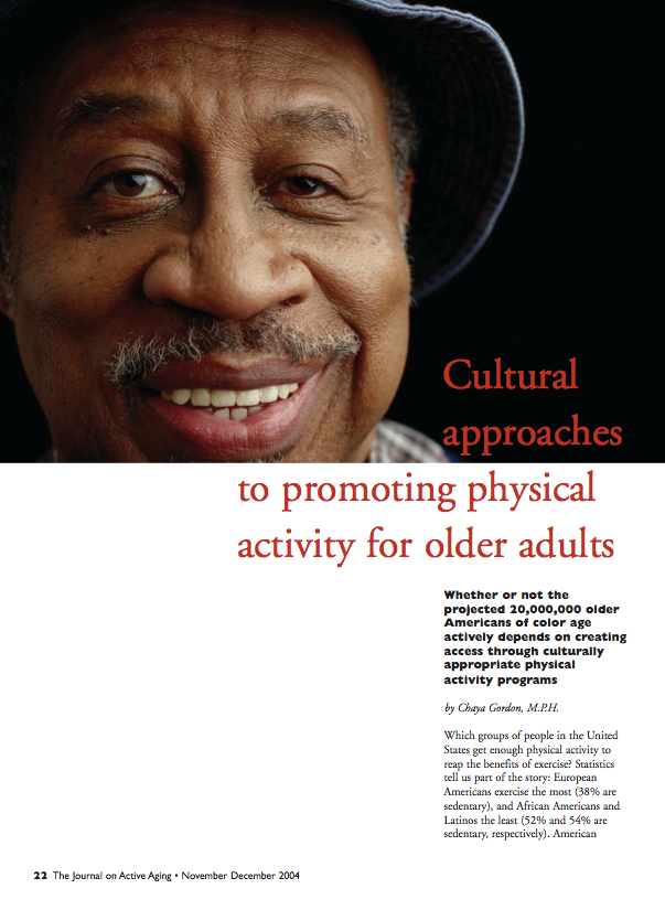 Cultural approaches to promoting physical activity for older adults by Chaya Gordon-250