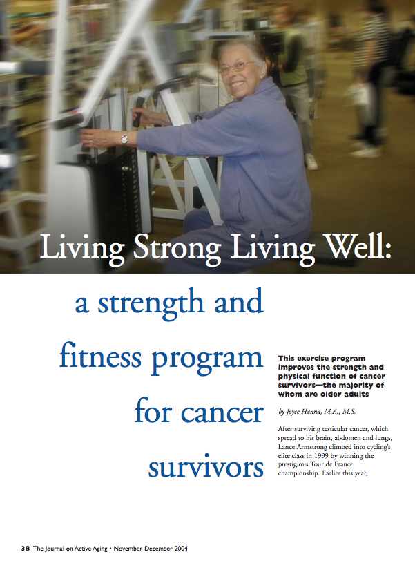 Living Strong Living Well: a strength and fitness program for cancer survivors by Joyce Hanna-255