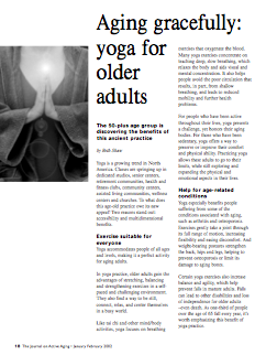 Aging gracefully: yoga for older adults by Beth Shaw-26