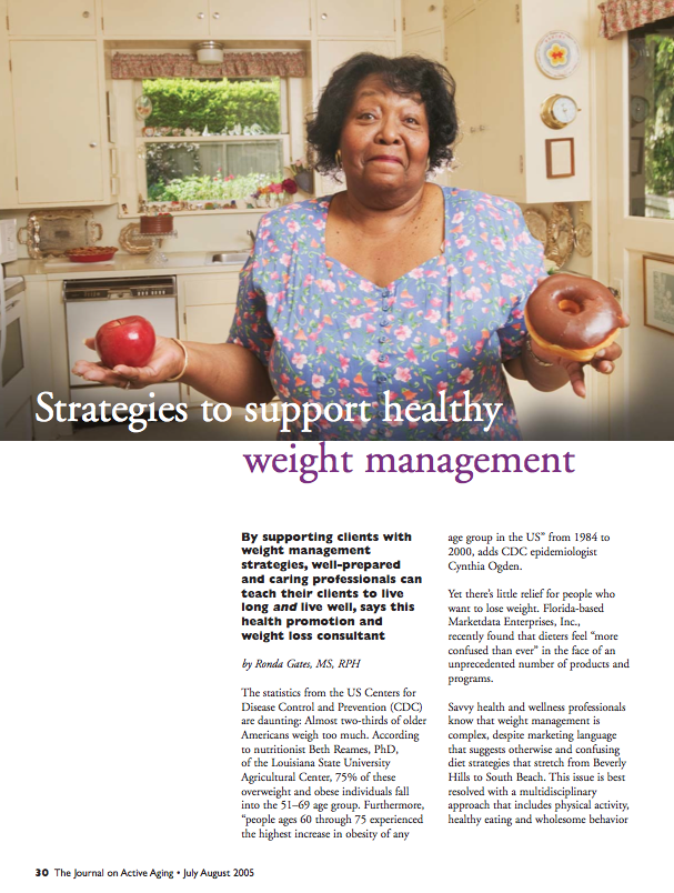 Strategies to support healthy weight management by Ronda Gates, MS, RPH-331