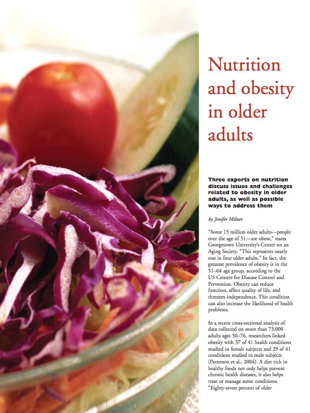 Nutrition and obesity in older adults by Jenifer Milner-341