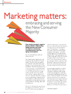 Marketing matters: embracing and serving the New Consumer Majority by G. Richard Ambrosius, MA, and Helen Foster, BA-3566