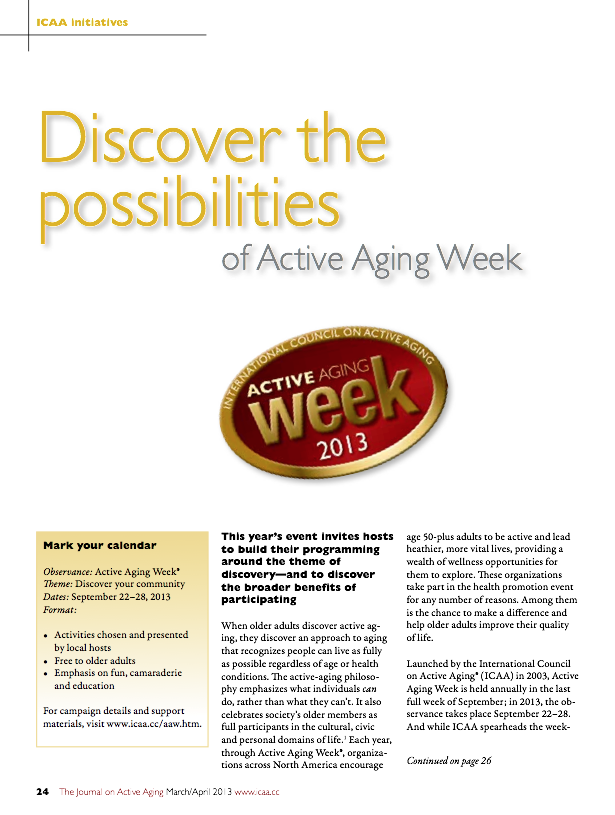 Discover the possibilities of Active Aging Week-3640