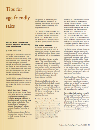 Tips for age-friendly sales by Sharon Sultan Cutler-368