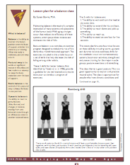 Lesson plan for a balance class by Susan Bovre, M.A.-371