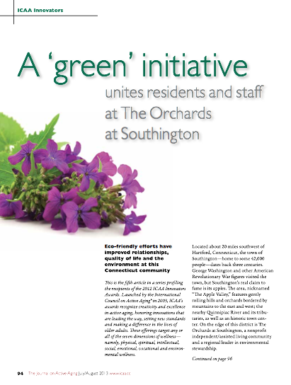 A 'green' initiative unites residents and staff at The Orchards at Southington-4272
