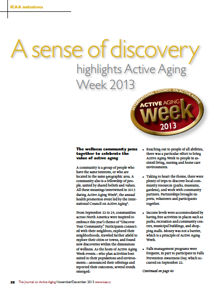 A sense of discovery highlights Active Aging Week 2013-4464