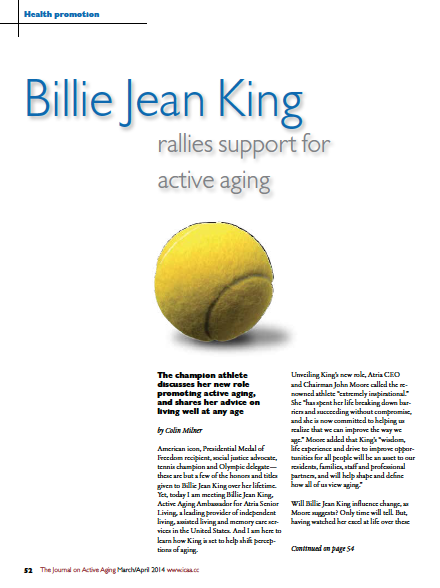 Billie Jean King rallies support for active aging by Colin Milner-4686