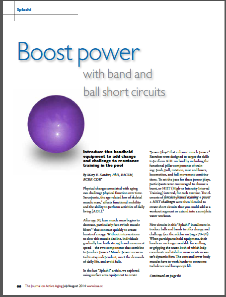 Splash! Boost power with band and ball short circuits by Mary E. Sanders, PhD, FACSM, RCEP, CDE-4906