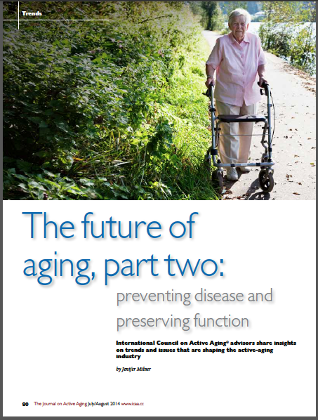 The future of aging, part two: preventing disease and preserving function by Jenifer Milner-4909