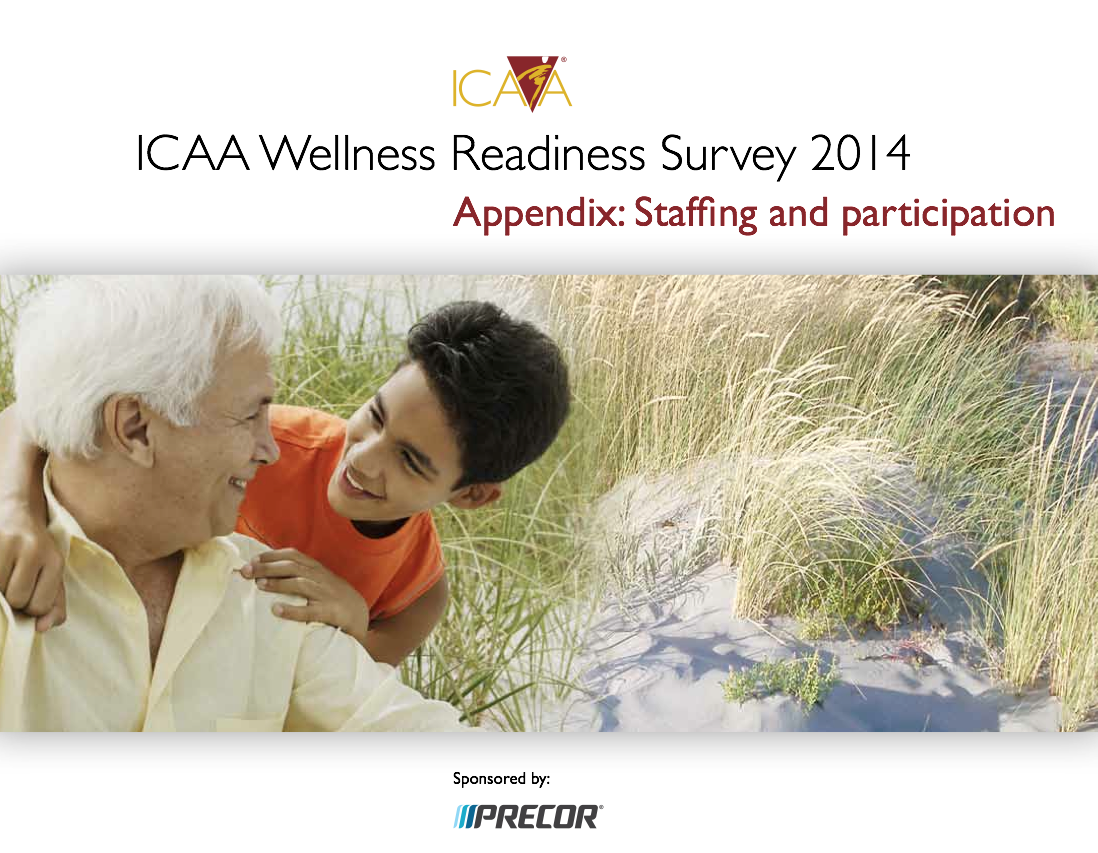 ICAA Wellness Readiness Survey 2014: Appendix on Staffing and Participation.-4951