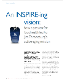 An INSPIRE-ing vision: how a passion for foot health led to Jim Throneburg's active-aging mission-4969