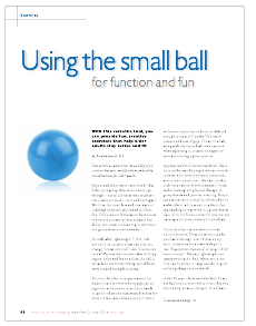 Using the small ball for function and fun by Brenda Jurich, BA-4971