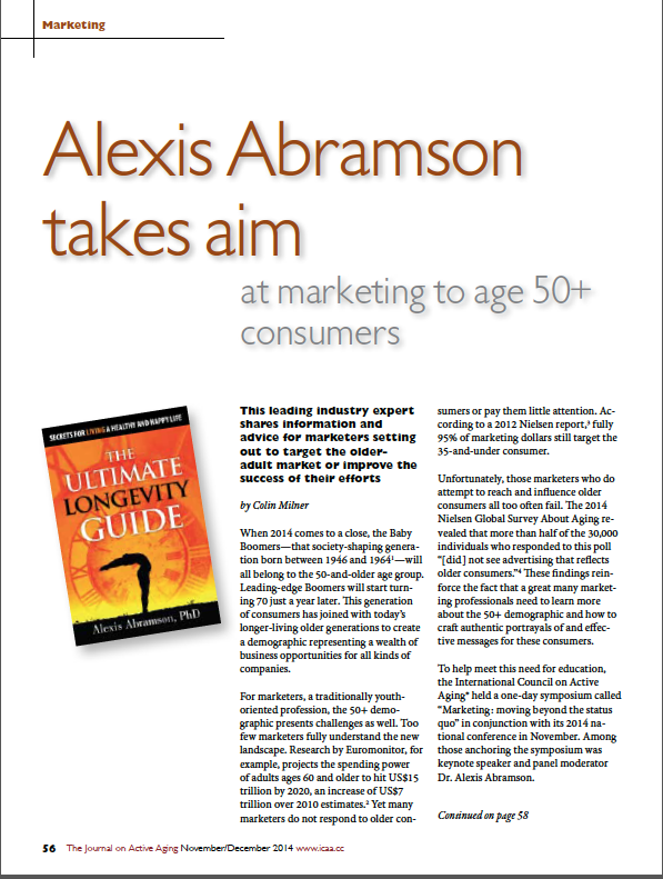 Alexis Abramson takes aim at marketing to age 50+ consumers by Colin Milner-4982