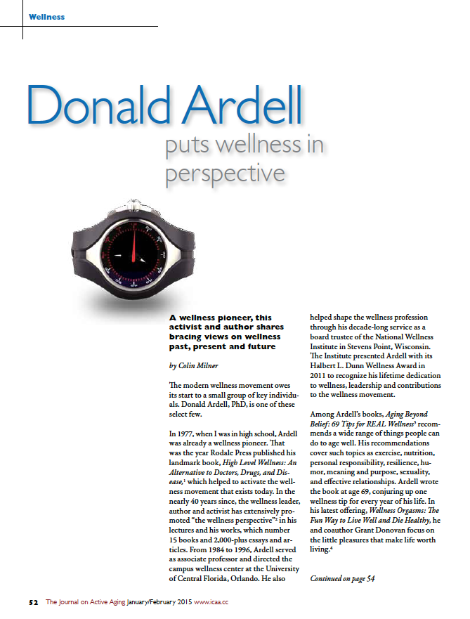Donald Ardell puts wellness in perspective by Colin Milner-5258