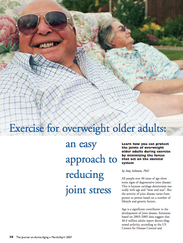Exercise for overweight older adults: an easy approach to reducing joint stress by Amy Ashmore, PhD-533