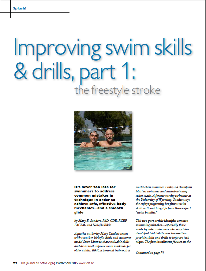 Splash! Improving swim skills & drills, part 1: the freestyle stroke by Mary E. Sanders, PhD, CDE, RCEP, FACSM, and Nebojsa Bikic-5348