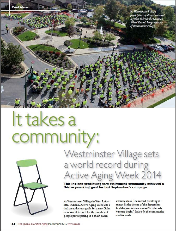 It takes a community: Westminster Village sets a world record during Active Aging Week 2014-5356