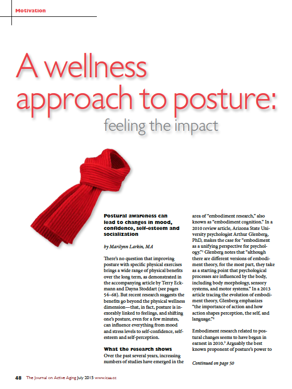 A wellness approach to posture: feeling the impact by Marilynn Larkin, MA-5450
