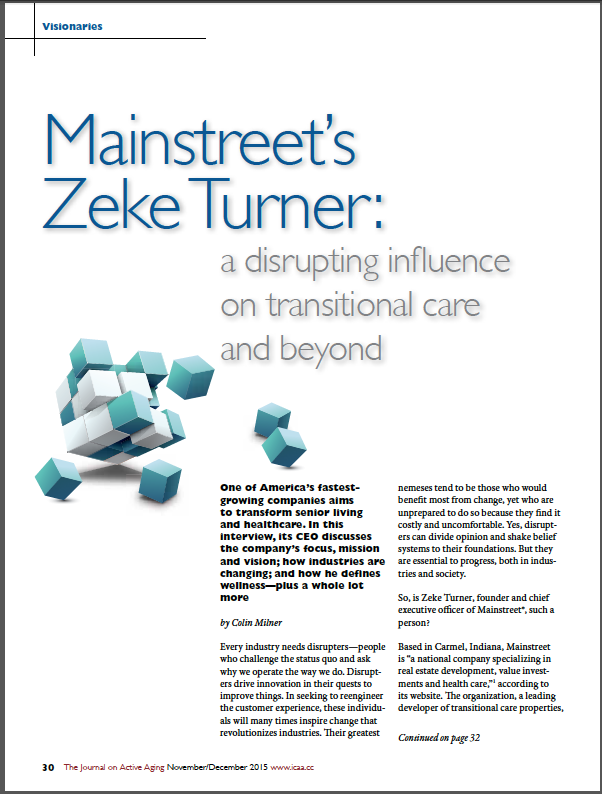 Mainstreet's Zeke Turner: a disrupting influence on transitional care and beyond by Colin Milner-5555