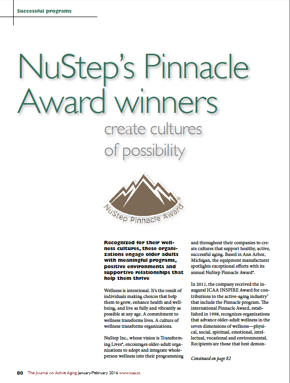 NuStep's Pinnacle Award winners create cultures of possibility-5588