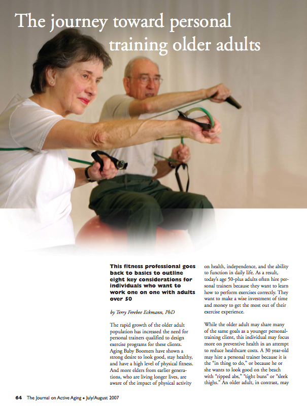 The journey toward personal training older adults by Terry Ferebee Eckmann, PhD-559