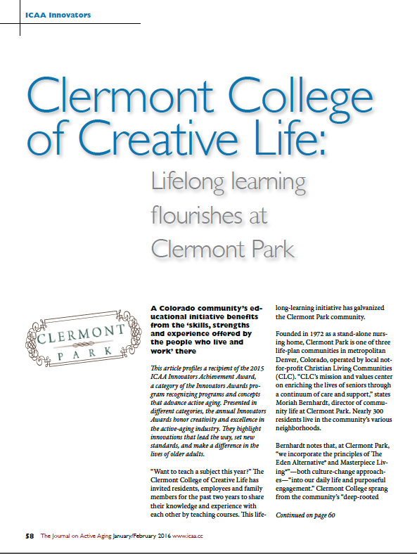 Clermont College of Creative Life: Lifelong learning flourishes at Clermont Park-5590