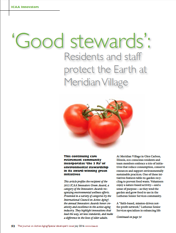 Good steward's: Residents and staff protect the Earth at Meridian Village-5665
