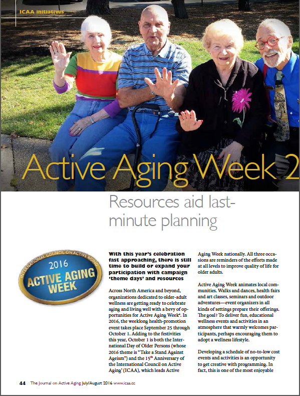 Active Aging Week 2016: Resources aid last-minute planning-5683