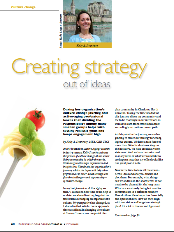 Creating strategy out of ideas by Kelly A. Stranburg, MEd, CEP, CSCS-5684